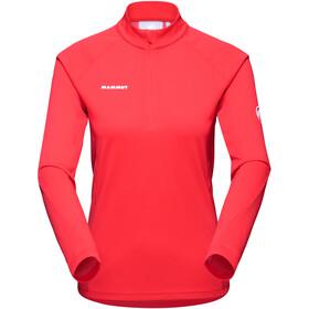 Mammut Aegility Half Zip Longsleeve Shirt Women, rojo